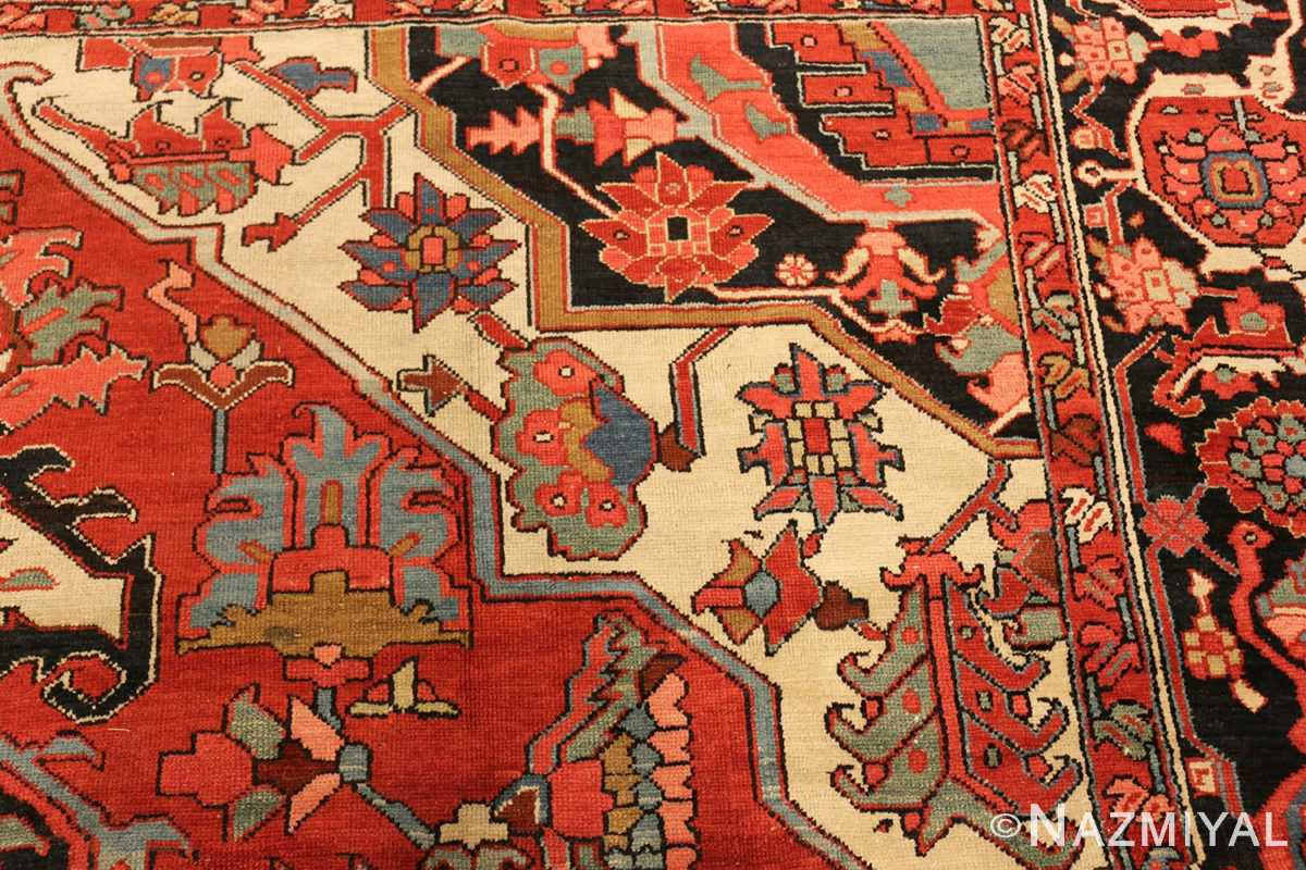 roomsize antique serapi persian rug 49359 design Nazmiyal