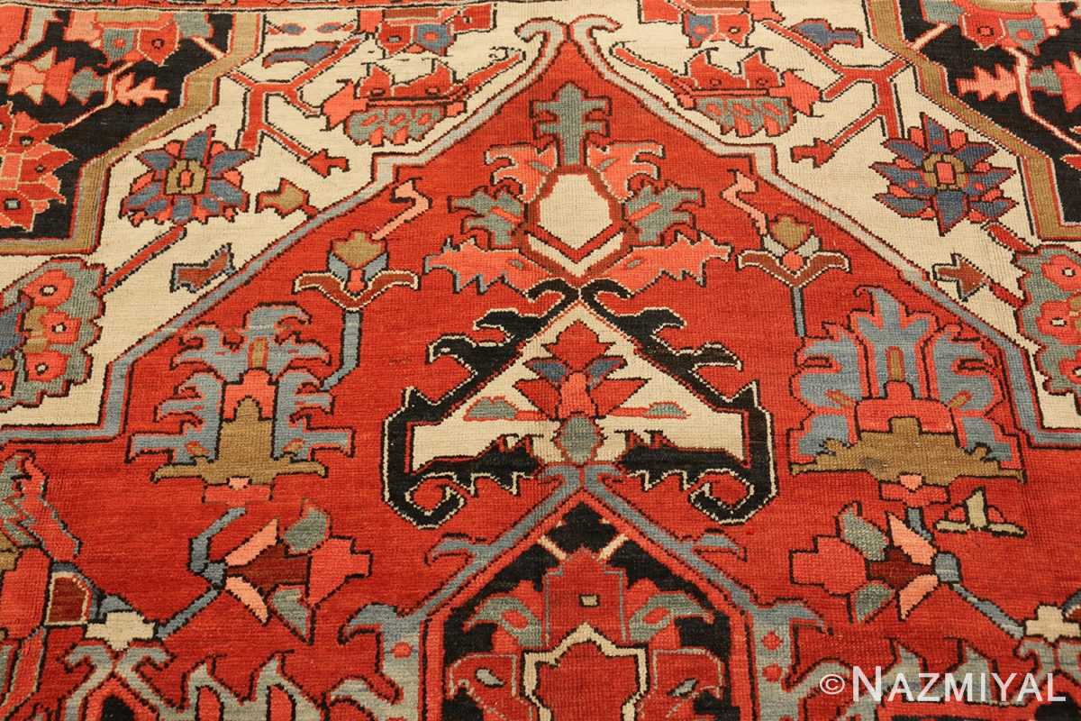 roomsize antique serapi persian rug 49359 top Nazmiyal