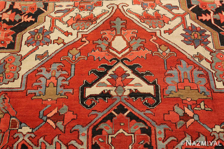 roomsize antique serapi persian rug 49359 top Nazmiyal