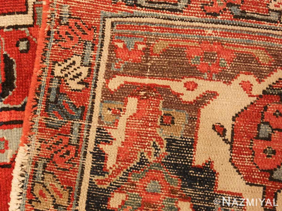 roomsize antique serapi persian rug 49359 weave Nazmiyal