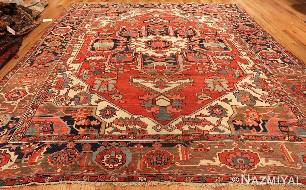 roomsize antique serapi persian rug 49359 whole Nazmiyal