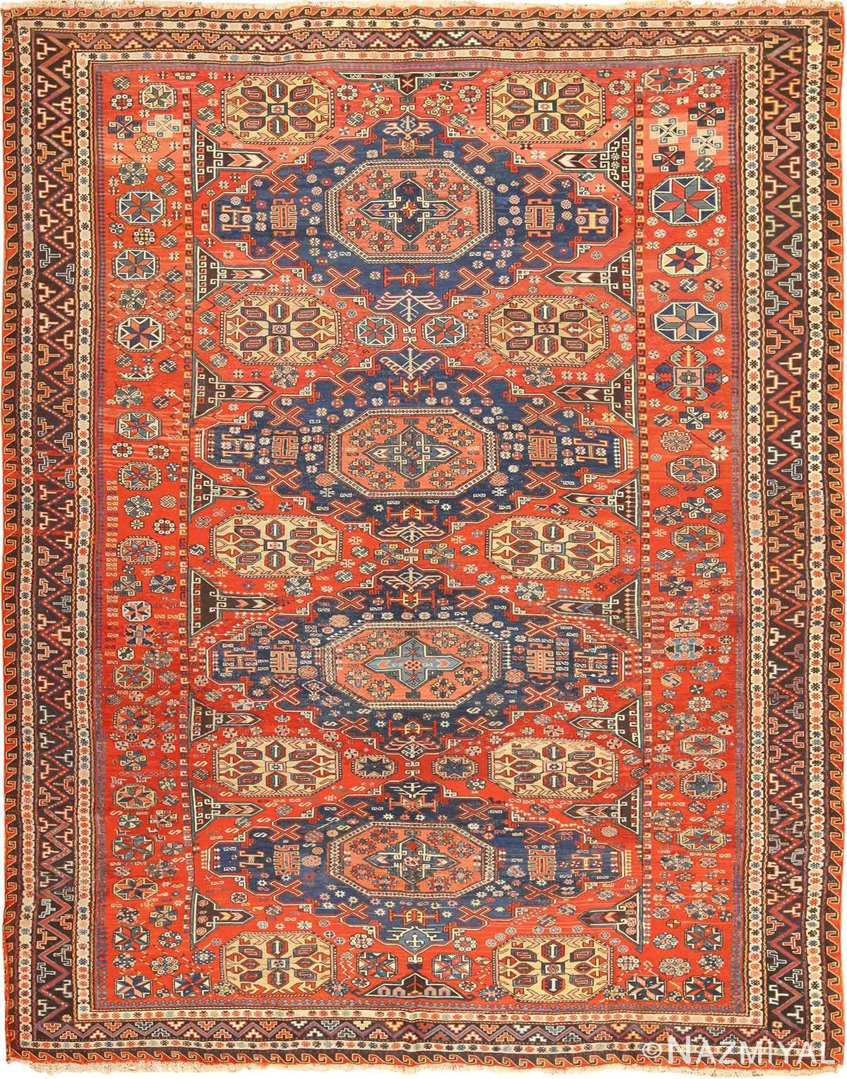 Beautiful Antique Soumak Caucasian Rug 49340 By Nazmiyal