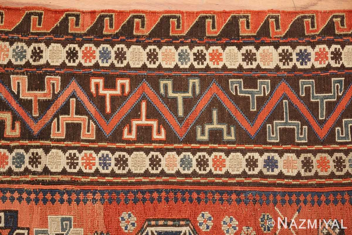 roomsize antique soumak caucasian rug 49340 border Nazmiyal