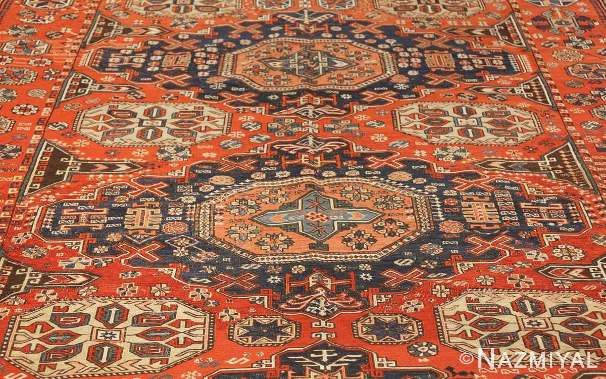roomsize antique soumak caucasian rug 49340 field Nazmiyal