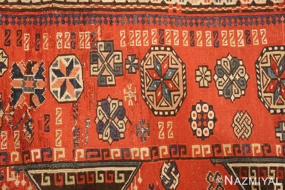 roomsize antique soumak caucasian rug 49340 pattern Nazmiyal