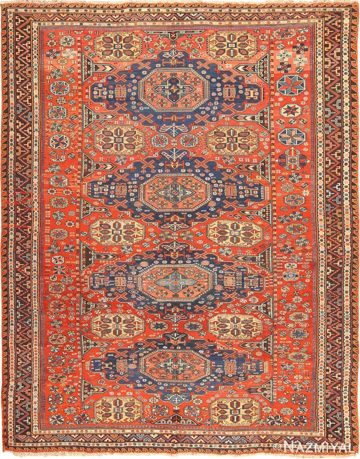 Antique Soumak Caucasian Rug 49340