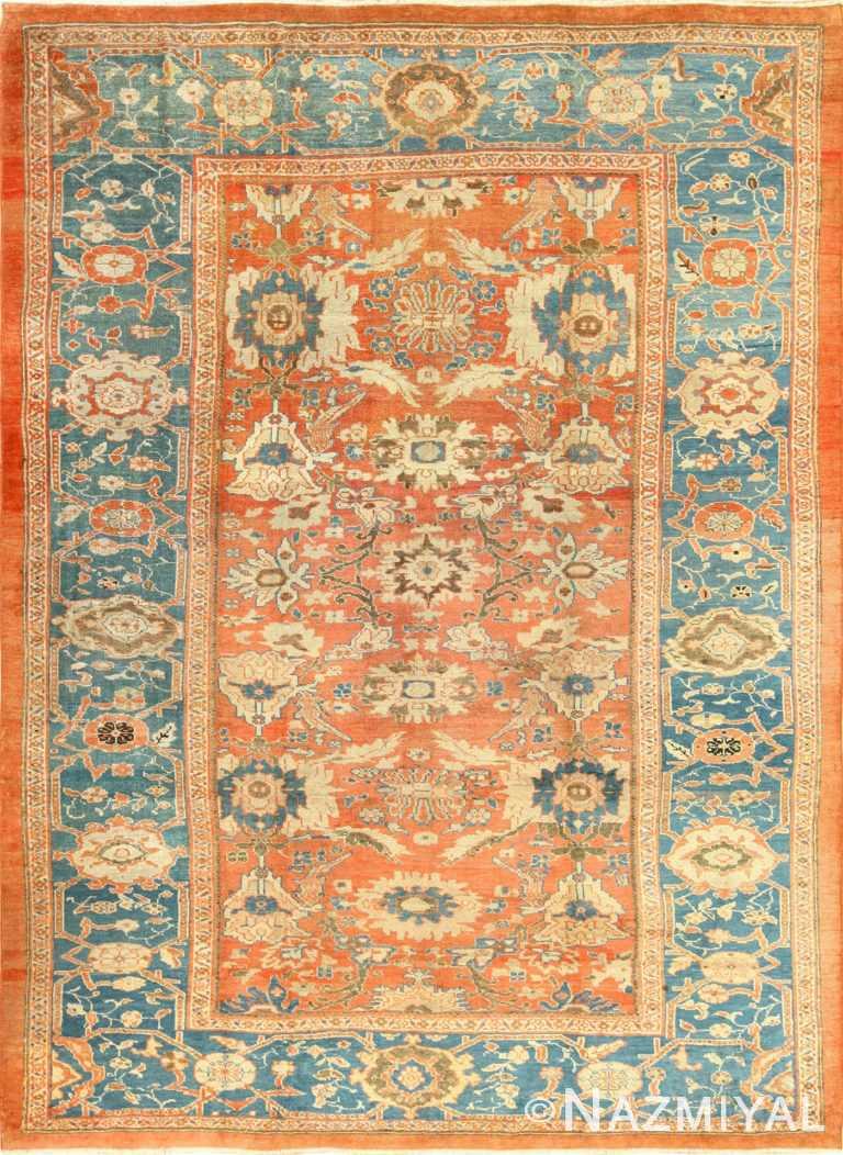 roomsize antique sultanabad persian rug 49361 Nazmiyal