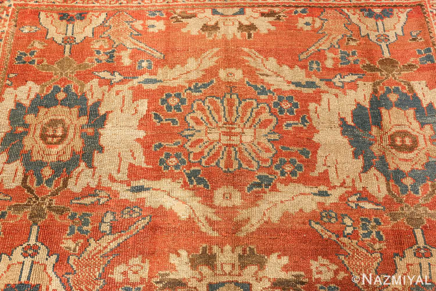 roomsize antique sultanabad persian rug 49361 blue Nazmiyal
