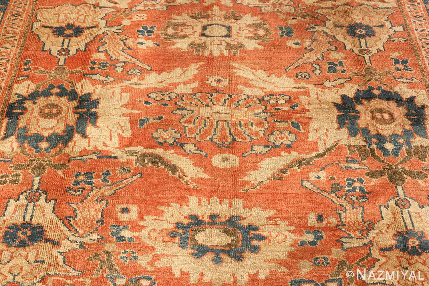 roomsize antique sultanabad persian rug 49361 center Nazmiyal