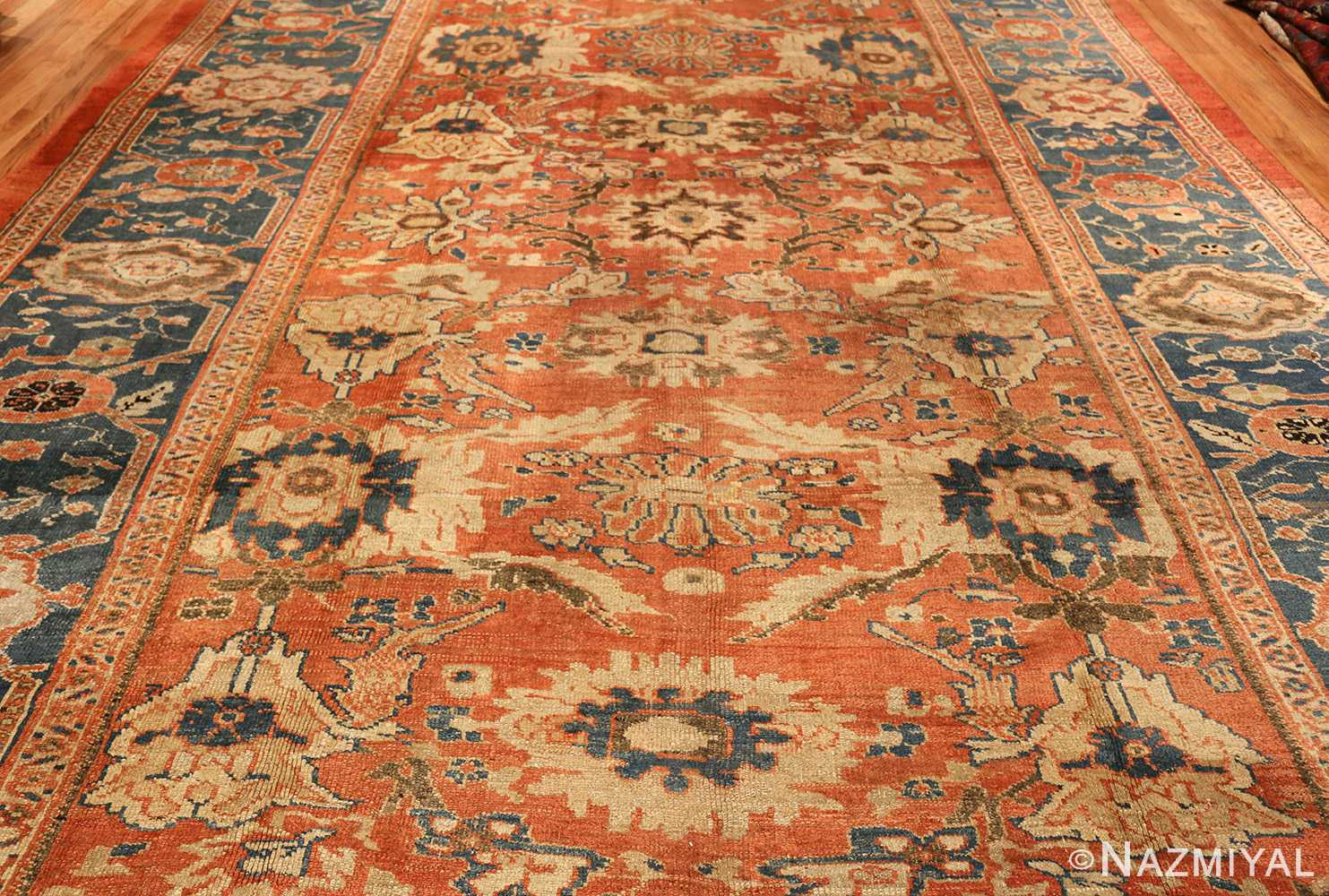roomsize antique sultanabad persian rug 49361 field Nazmiyal