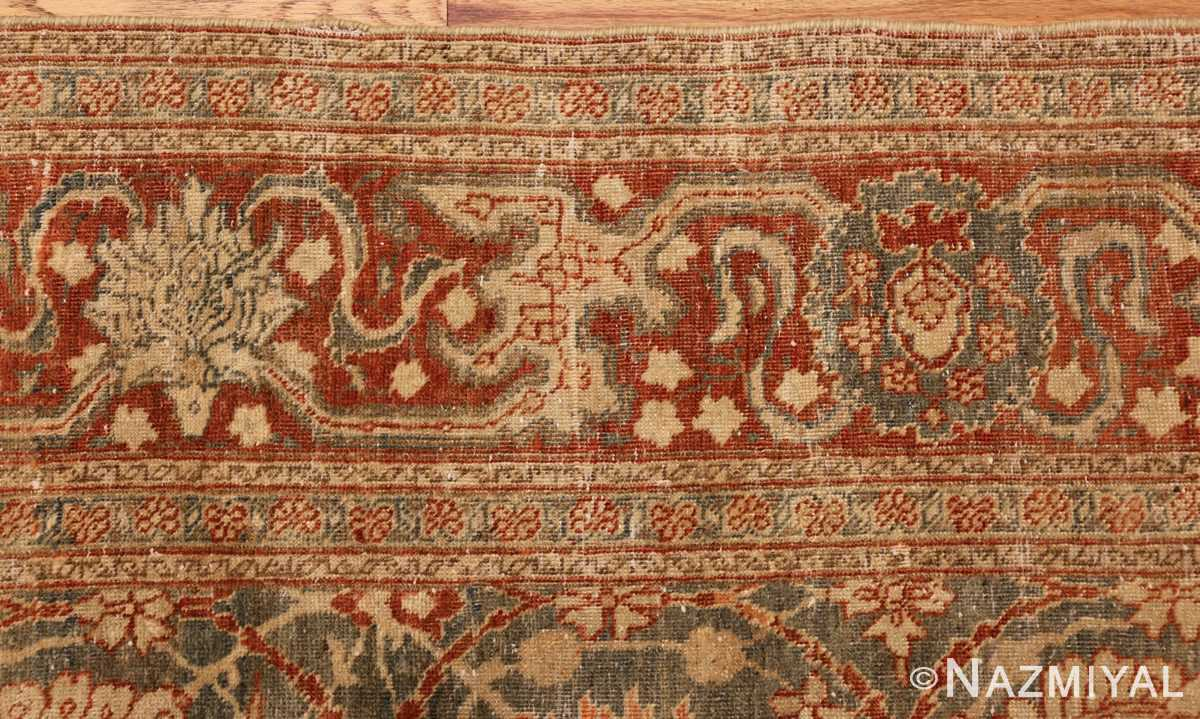 roomsize antique tabriz persian rug 49354 border Nazmiyal