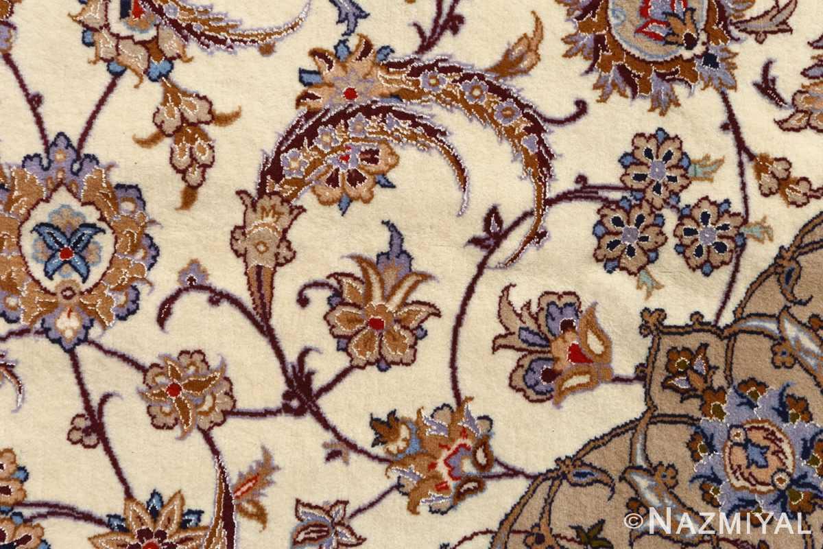 roomsize vintage isfahan persian rug 51148 field Nazmiyal