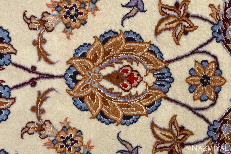 roomsize vintage isfahan persian rug 51148 flower Nazmiyal