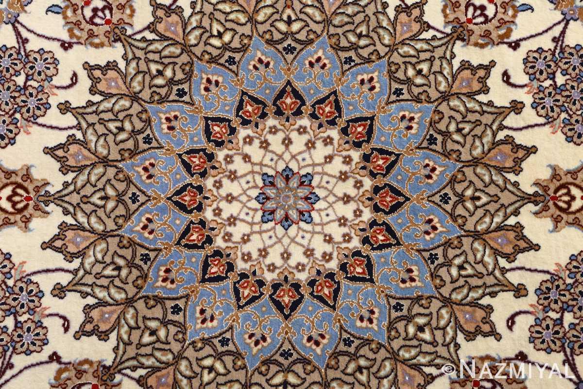 roomsize vintage isfahan persian rug 51148 medallion Nazmiyal
