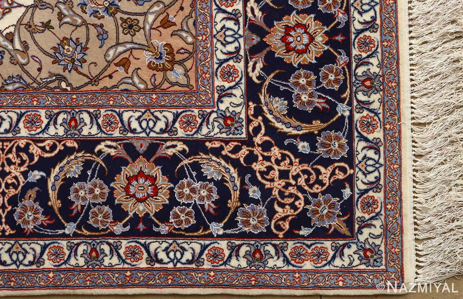 roomsize vintage isfahan persian rug 51148 part Nazmiyal