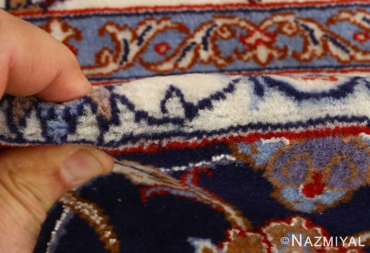 roomsize vintage isfahan persian rug 51148 pile Nazmiyal