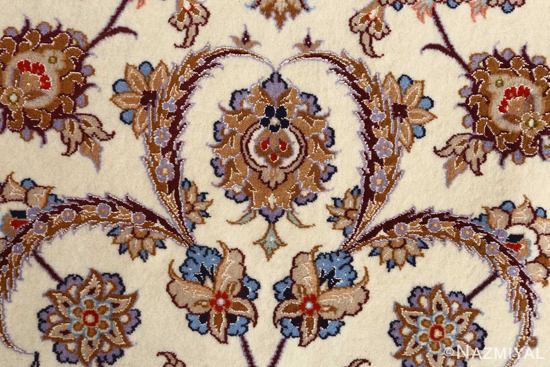 roomsize vintage isfahan persian rug 51148 scrolls Nazmiyal