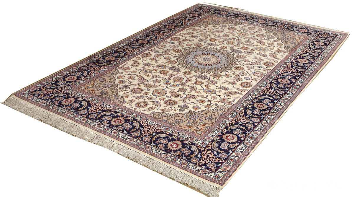roomsize vintage isfahan persian rug 51148 side Nazmiyal