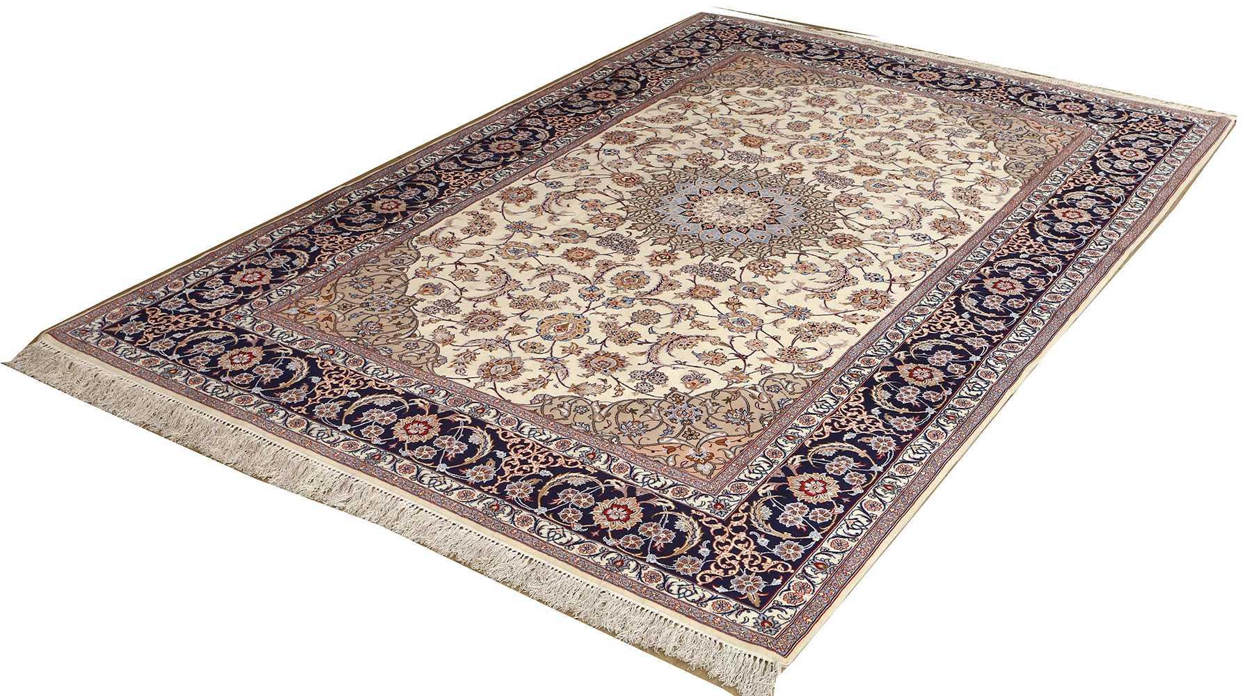 roomsize vintage isfahan persian rug 51148 side Nazmiyal