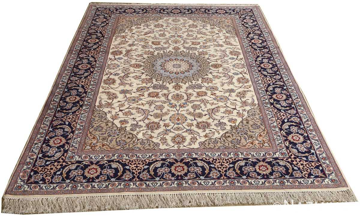 roomsize vintage isfahan persian rug 51148 whole Nazmiyal