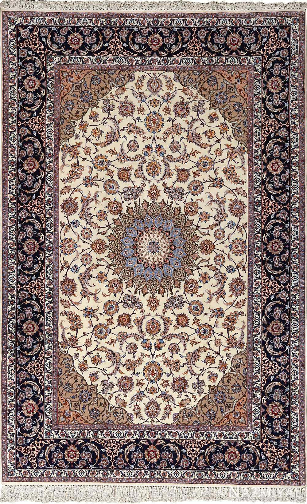 roomsize vintage isfahan persian rug 51148 Nazmiyal
