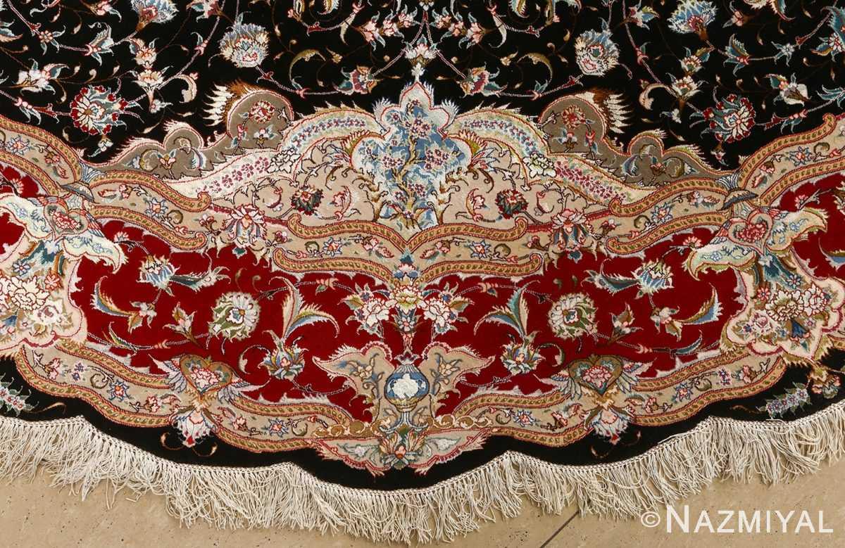 round black vintage tabriz persian rug 51136 border Nazmiyal