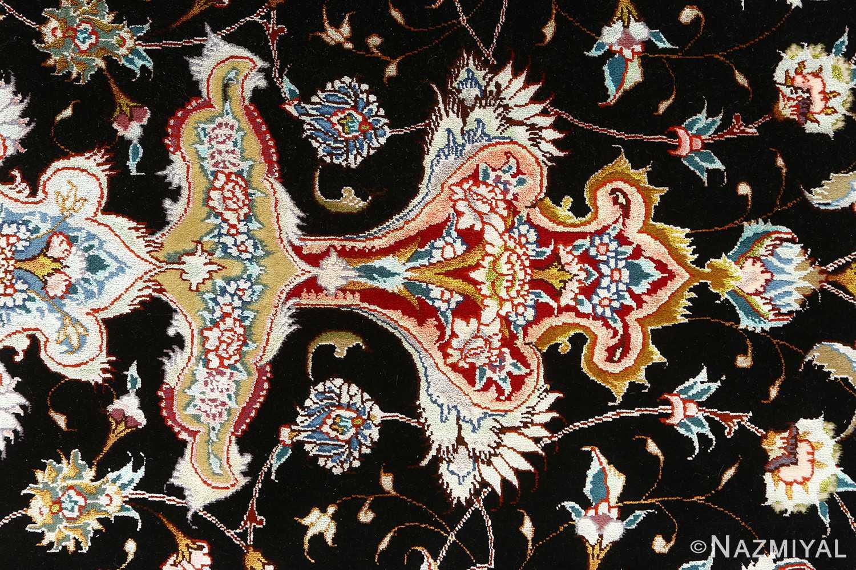 round black vintage tabriz persian rug 51136 tiara Nazmiyal