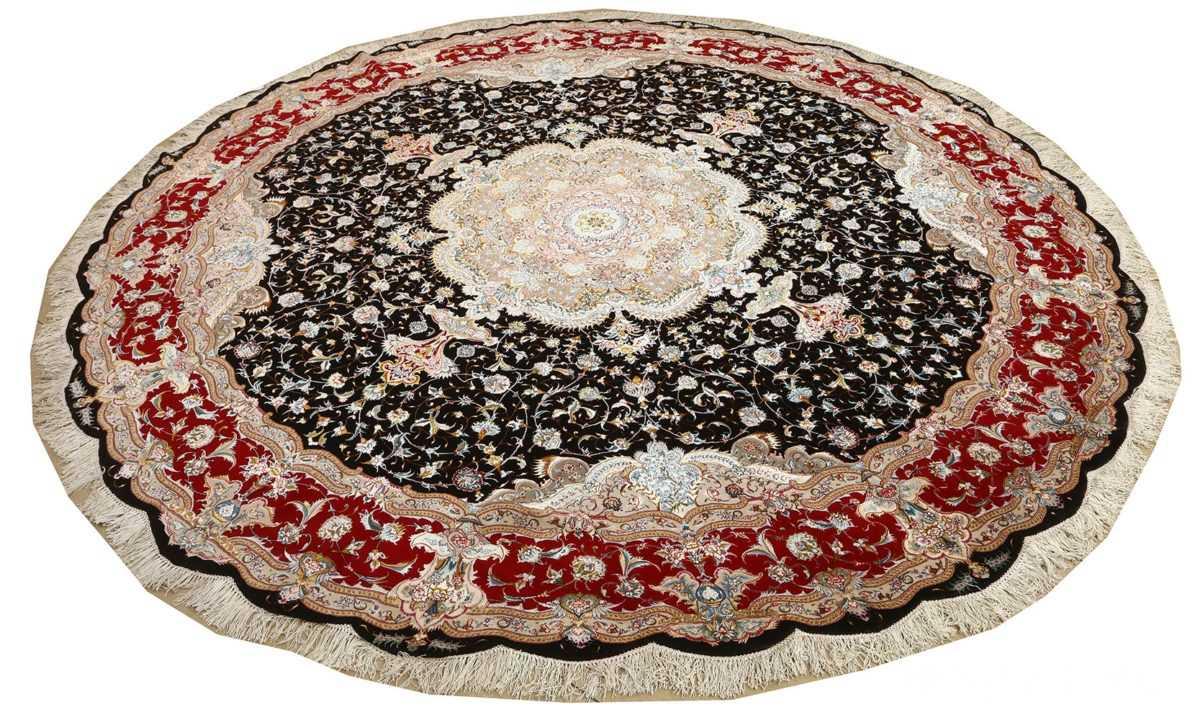 round black vintage tabriz persian rug 51136 whole Nazmiyal