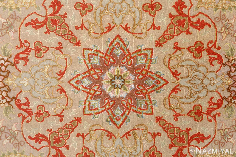 round fine vintage tabriz persian rug 51133 center Nazmiyal