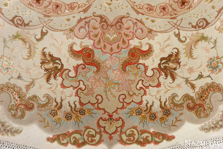 round fine vintage tabriz persian rug 51133 design Nazmiyal