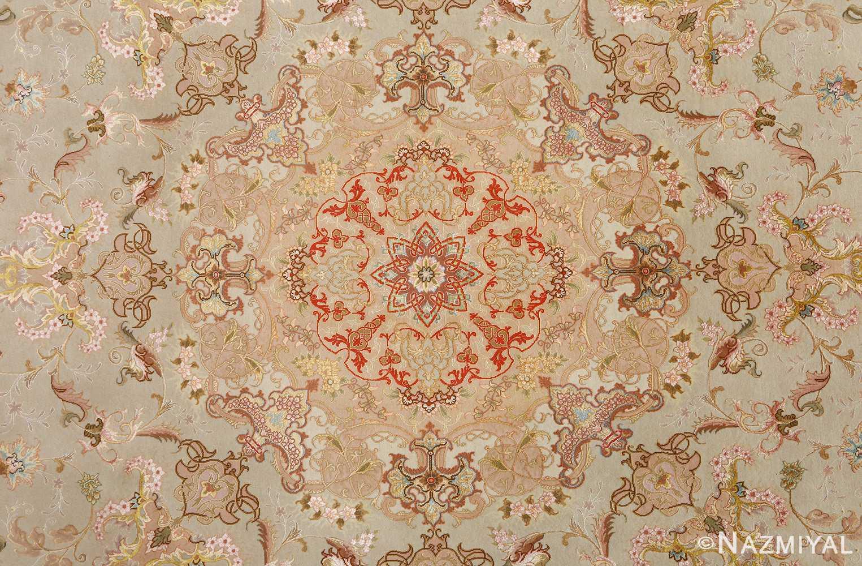 round fine vintage tabriz persian rug 51133 medallion Nazmiyal