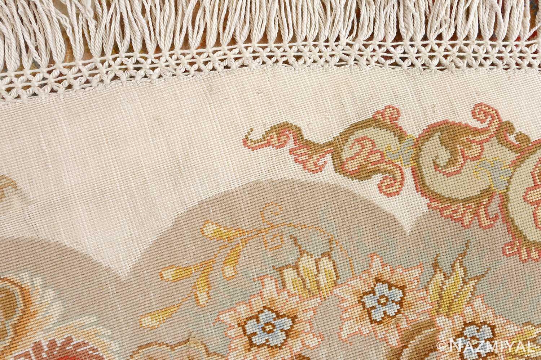 round fine vintage tabriz persian rug 51133 weave Nazmiyal