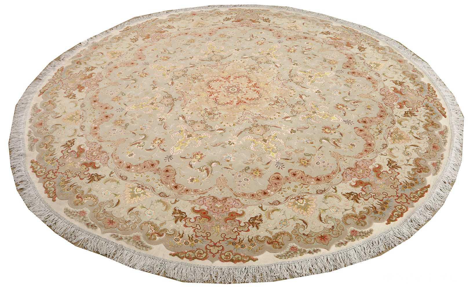 round fine vintage tabriz persian rug 51133 whole Nazmiyal