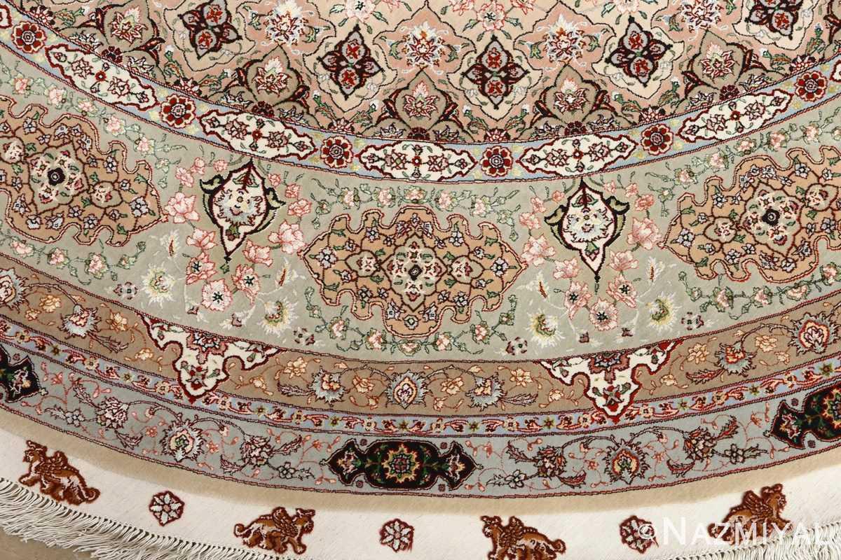 round shahsavarpour design vintage tabriz persian rug 51128 border Nazmiyal