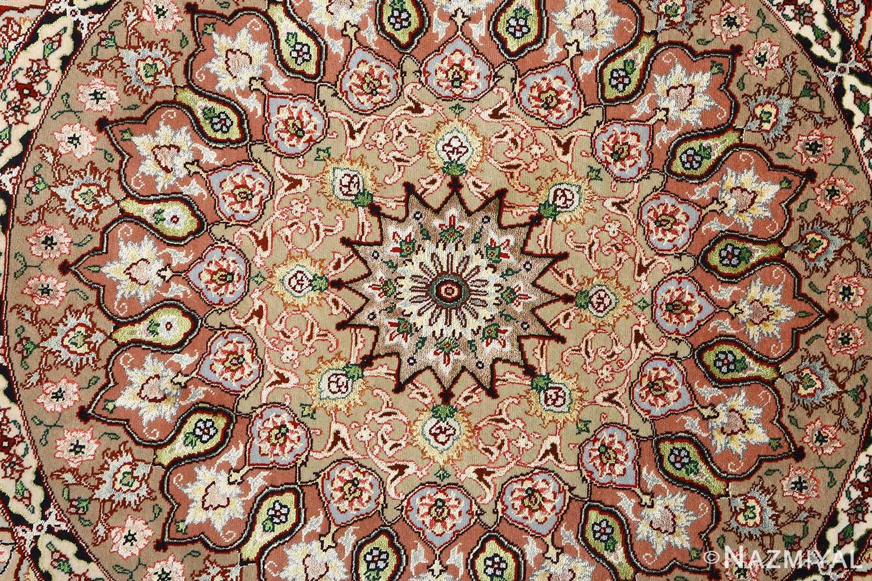 round shahsavarpour design vintage tabriz persian rug 51128 center Nazmiyal