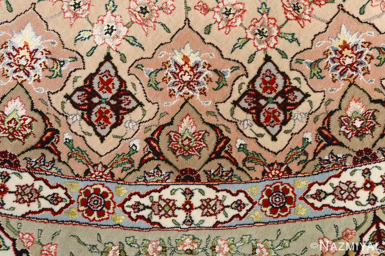 round shahsavarpour design vintage tabriz persian rug 51128 design Nazmiyal