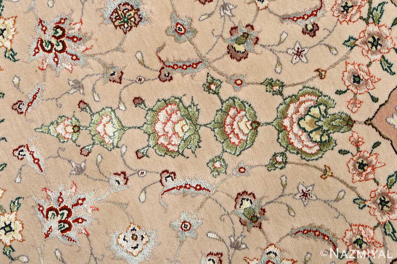 round shahsavarpour design vintage tabriz persian rug 51128 field Nazmiyal