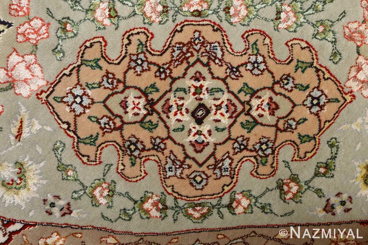 round shahsavarpour design vintage tabriz persian rug 51128 pattern Nazmiyal