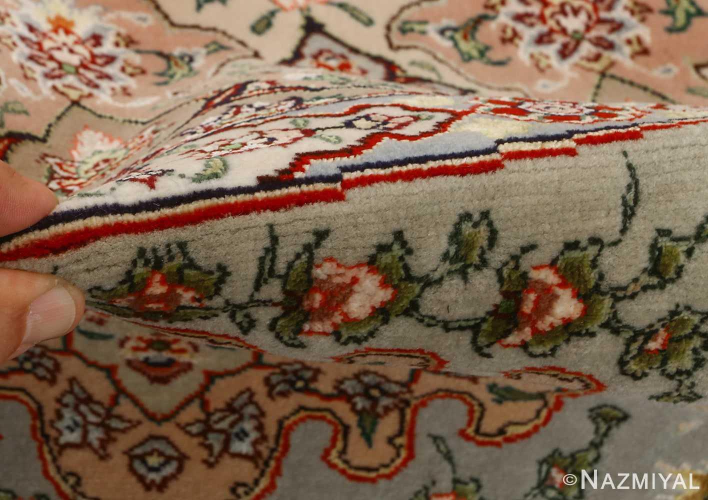 round shahsavarpour design vintage tabriz persian rug 51128 pile Nazmiyal