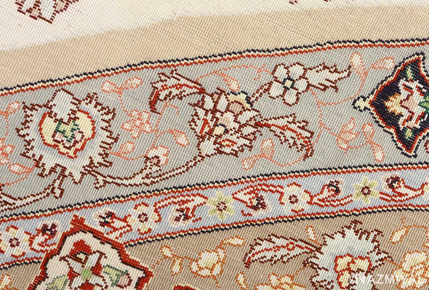 round shahsavarpour design vintage tabriz persian rug 51128 weave Nazmiyal