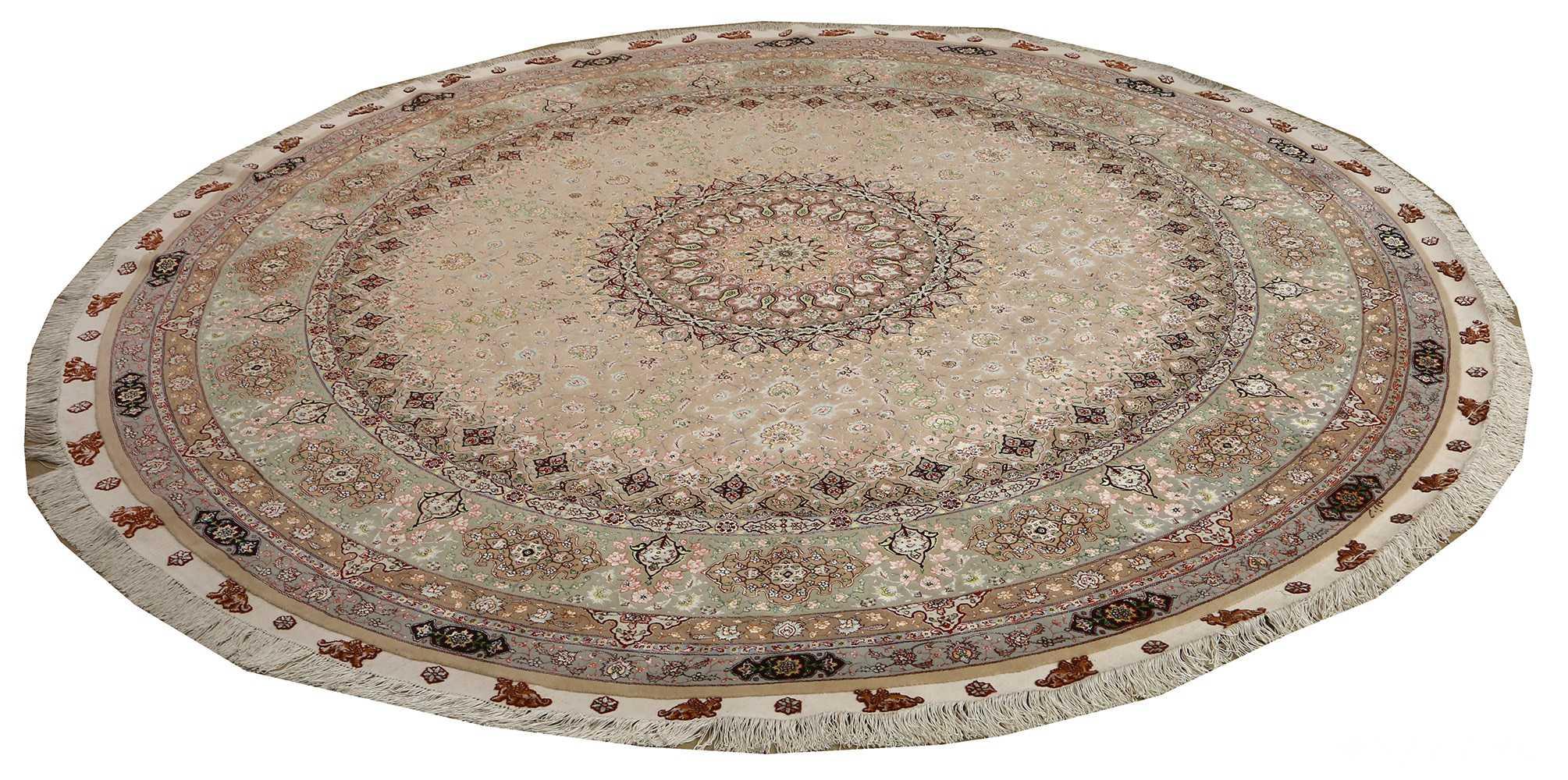 round shahsavarpour design vintage tabriz persian rug 51128 whole Nazmiyal