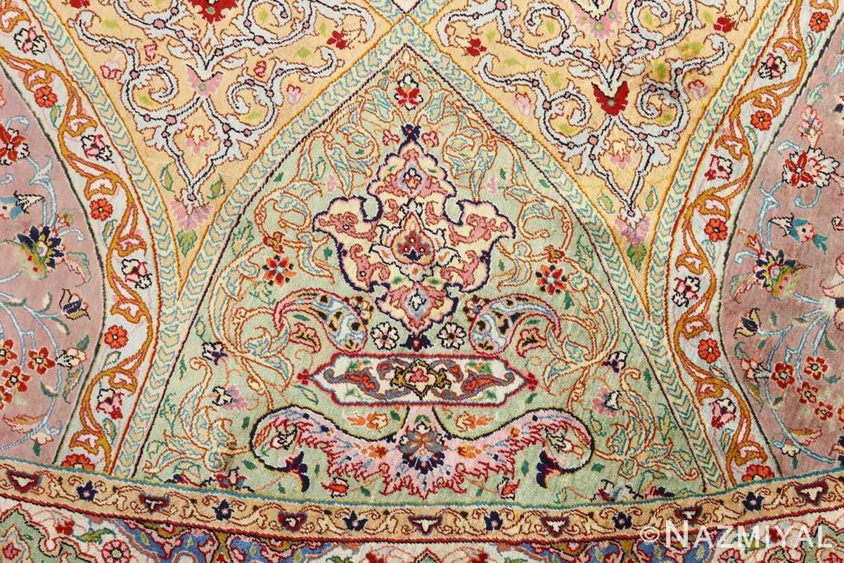 round silk vintage tabriz persian rug 51137 dome Nazmiyal