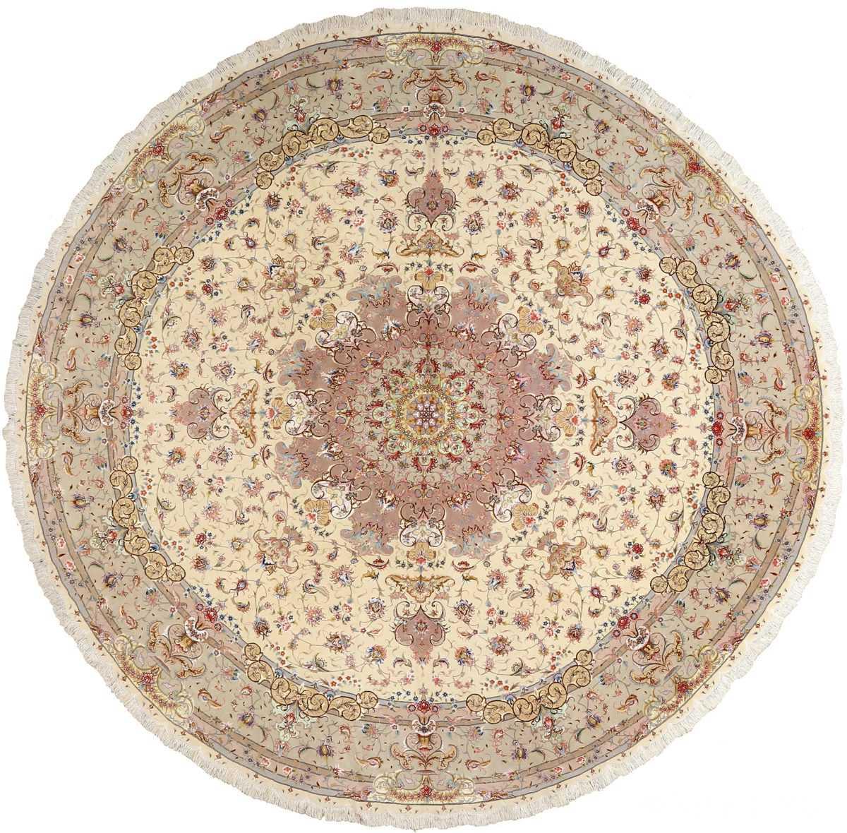 Vintage Persian Rugs: Fine Round Vintage Tabriz Persian Rug 51123 By Nazmiyal