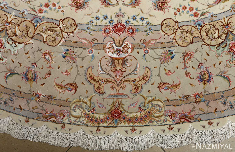 round vintage tabriz persian rug 51123 border Nazmiyal