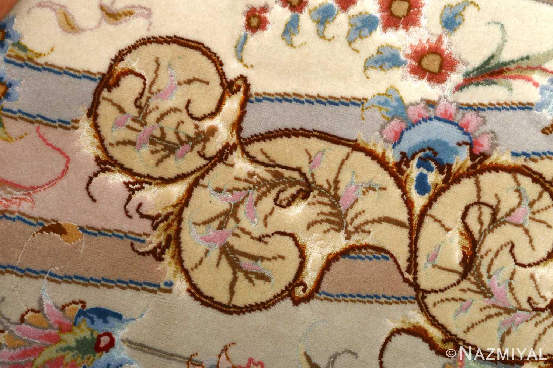 round vintage tabriz persian rug 51123 closeup Nazmiyal