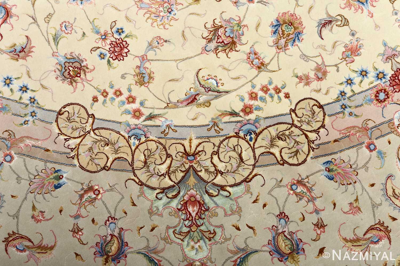 round vintage tabriz persian rug 51123 design Nazmiyal