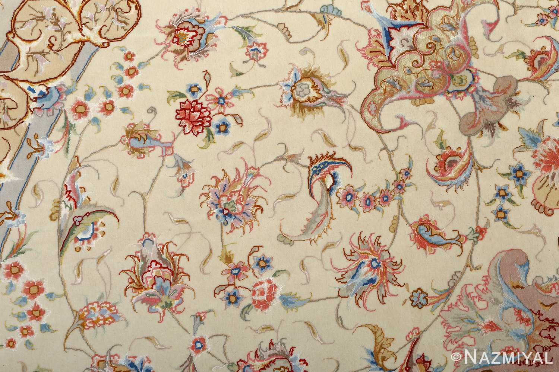 round vintage tabriz persian rug 51123 field Nazmiyal