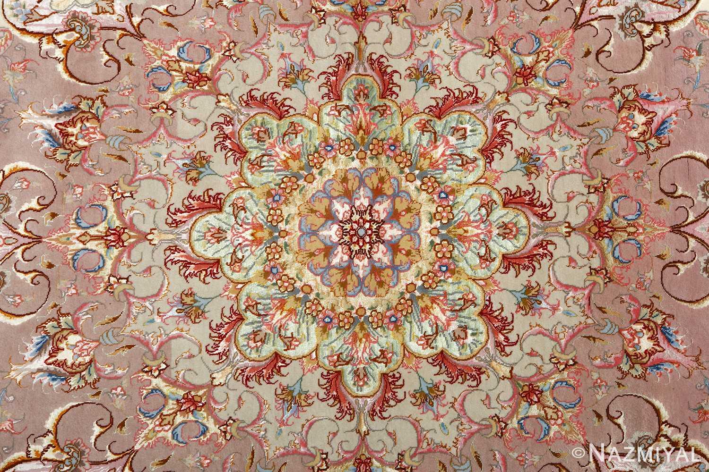 round vintage tabriz persian rug 51123 medallion Nazmiyal