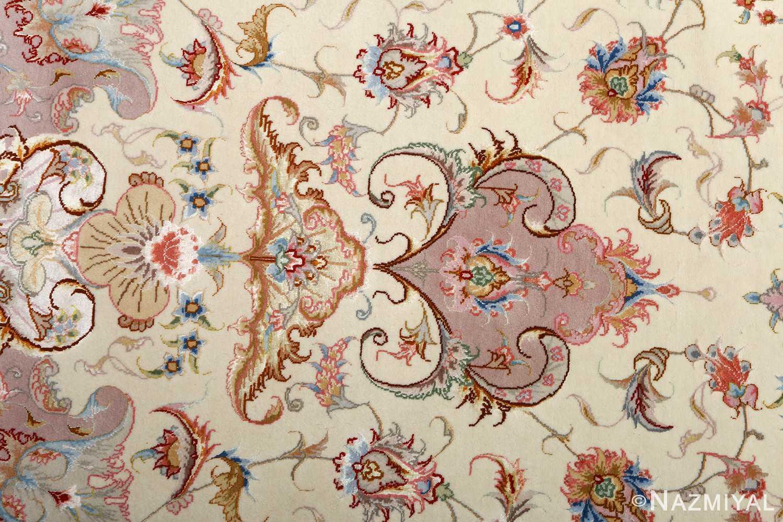 round vintage tabriz persian rug 51123 tiara Nazmiyal