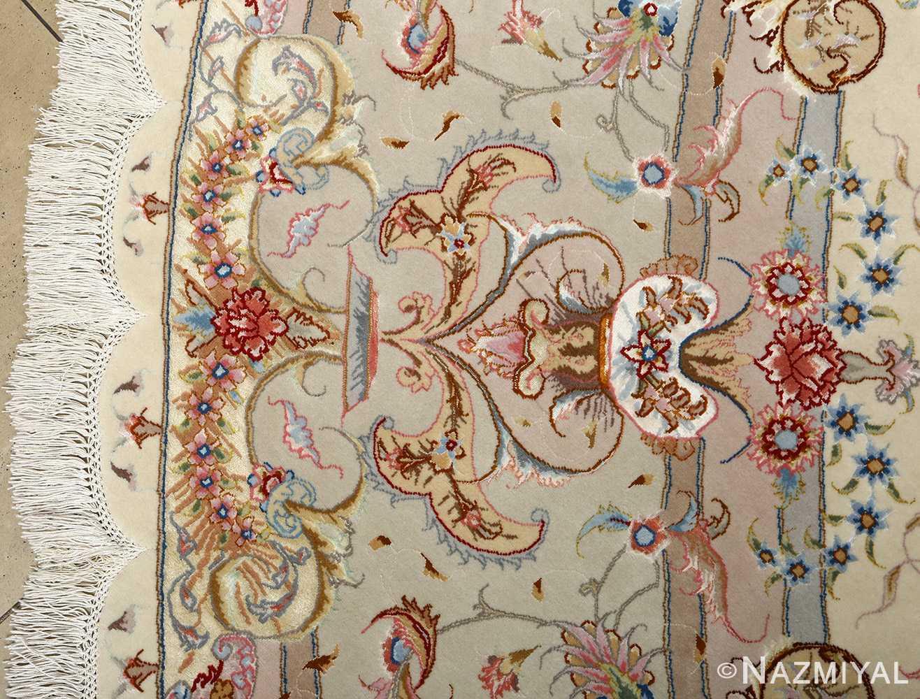 round vintage tabriz persian rug 51123 vase Nazmiyal